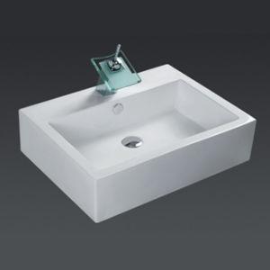Lavabos de cer mica cuadrados 6503 lavabos de cer mica for Lavabo cuadrado