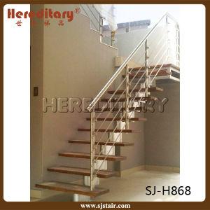 escalera recta de interior elegante para el diseo del pasamano de la escalera sj