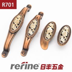 Nouvelle poignée de traction de matériel de meubles de conception dans en alliage de zinc (R-701)