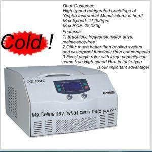 Tabletop высокоскоростная Refrigerated центробежка (TGL20MC)