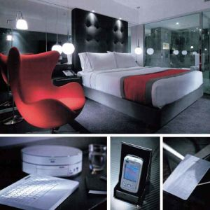 Monde de meubles de chambre à coucher d'hôtel