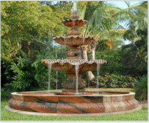 Fontaine d 39 eau d coup e par pierre de granit pour la - Fontaine decorative exterieure jardin ...
