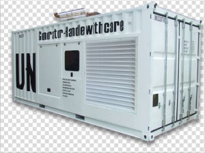 Mtu Three Phase 3300V/50Hz/1500rpm/2000kw Containerized Type Diesel Generator Set
