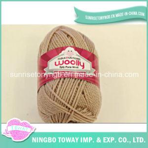 Luvas de tricô mão tecelagem de fios de lã pura