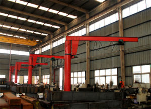 Grúa de horca rotatoria montada columna de 5 toneladas