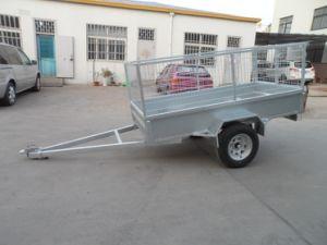Caminhão de caixa soldada tandem de utilitário com gaiola