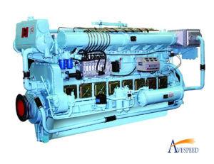 Двигатель дизеля N8170 Series 480kw 1200 (r/min) Water Cooling Marine