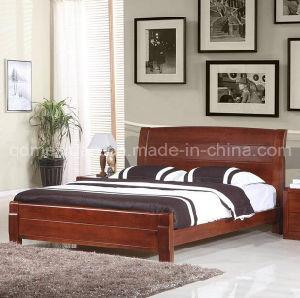 Base de madera moderna de las camas matrimoniales de la for Cuanto miden las camas matrimoniales