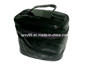 Saco cosmético de couro do PVC (SYCM-003)