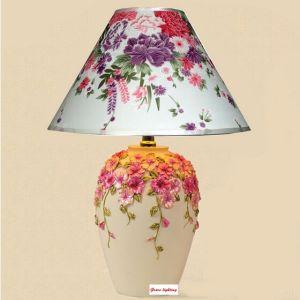 Nueva lámpara de mesa pintada a mano china del florero del diseño (GT-1082B-1) – Nueva lámpara ...