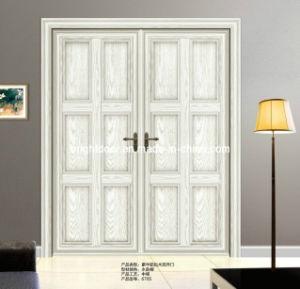 Puerta principal doble exterior del aluminio puerta - Puertas de aluminio para entrada principal ...