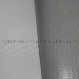 Parte traseira Branco-Cinzenta da bandeira do cabo flexível do PVC de Blockout