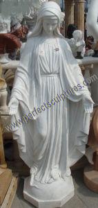 Statue de la vierge marie en marbre en sculpture sur for Statue vierge marie pour exterieur