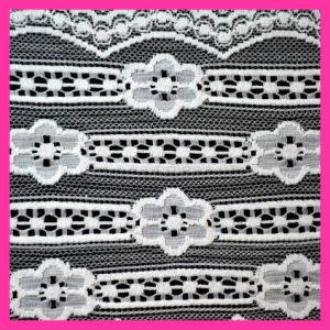 Tissu en nylon 84 de lacet de vague de mode