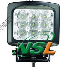 5.5inch Square CREE DEL Work Light, 12V24V Auto Truck Car Marine 4X4 Jeep Offroad Fog Driving Head Roof Lighting du CREE DEL 7700lm Spot Flood 60W de 9PCS X de 10W