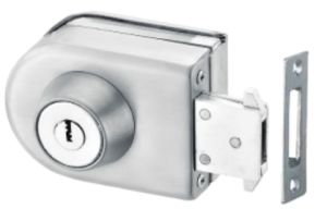 Glass de aço de alumínio Door Lock (FS-231)