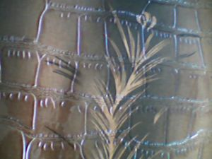 Couro de gravação do PVC para a sapata/sacos