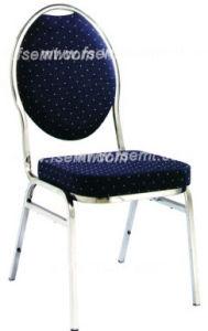 Chaise ronde de banquet de mariage en métal de modèle concis (EMT-R38)
