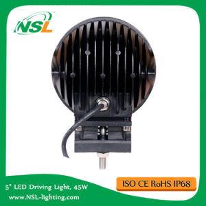 5.5inch Rond 9PCS X 5W CREE LED 4000lm Spot Flood 45W CREE LED Lumière de travail de conduite, Auto 4X4 Jeep SUV Boat Truck Offroad Fog Head Light 12V24V