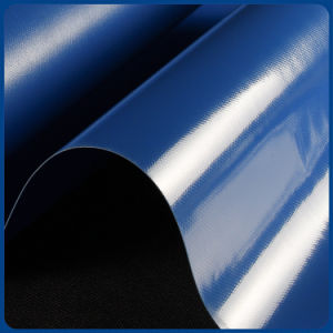 Encerado revestido PVC lustroso impermeável do azul da alta qualidade para a tampa de Trcuk