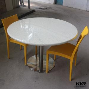 Dessus ext rieur solide compos de table ronde de for Table exterieur solide
