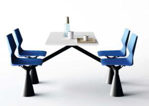 현대 작풍 플라스틱 군매점 4 Seater 대중음식점 테이블 및 의자 ...