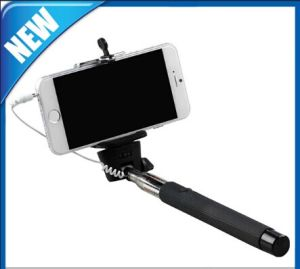 Palillo manejado extensible con sostenedor ajustable y obturador alejado incorporado para iPhone y Samsung