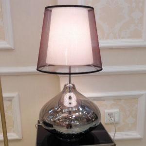lampe lampe de table moderne tablette en verre avec. Black Bedroom Furniture Sets. Home Design Ideas