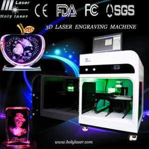 CNC cristal 3D Photo Machine de gravure laser