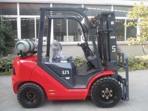 Vorkheftruck van de Benzine van de Capaciteit 3000kg van de V.N. 3.0t en de Dubbele van de Brandstof van LPG met de Originele Japanse Ingevoerde Motor van Nissan K25