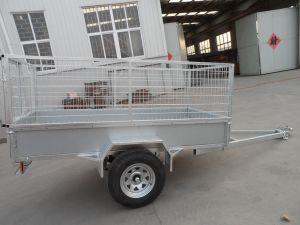 Reboque galvanizado da caixa do MERGULHO quente com gaiola 600