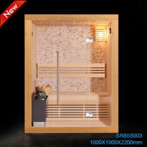 Hoek Glass Steam Sauna Room voor een Family van 3 Person (SR1D003)