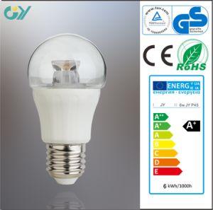 éclairage lumineux élevé d'ampoule de 6W LED avec du CE RoHS