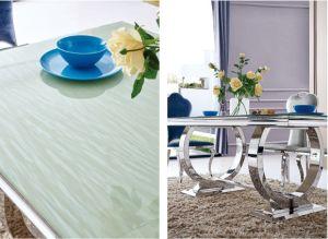 Comedor moderno acero inoxidable redondo de cristal de la for Cristal redondo para mesa