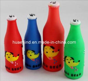 Hundequietschendes Bierflasche-Spielzeug, Haustier-Spielzeug