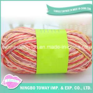 Fio tricotando manualmente acrílico Pot-Bellied da fantasia da tela do lenço