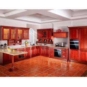 Madera sólida del gabinete de cocina (OP10-L138)