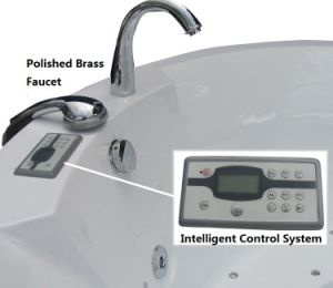 Baignoire acrylique de massage de couleur blanche de bonne qualité de salle de bains de famille de forme ronde (M-2057)