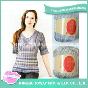Vente en Gros Tricot à la Main Colorful Laine Souple Mince Acrylique Nylon Fancy Yarn