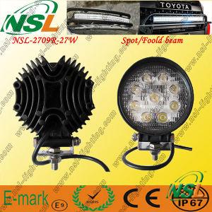 27W LED rond outre de la route conduisant la lumière de LED, Foglamp de LED, lumière tous terrains