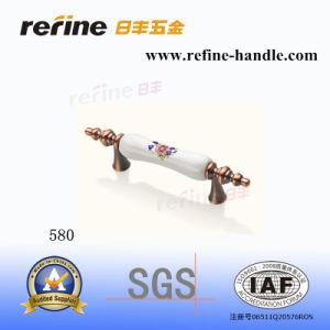 Traitement en alliage de zinc en céramique de traction de matériel de meubles (M-580)