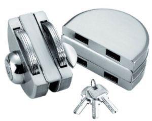 Fechamento de vidro do dobro da porta (FS-224)