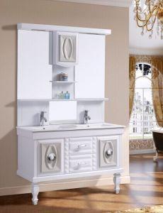 PVC浴室用キャビネットの倍の虚栄心の浴室の家具Sanitaryware (671-3)