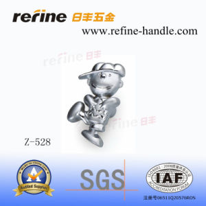 Molette en alliage de zinc de dessin animé de meubles de matériel (Z-528)