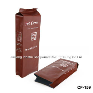 밑바닥 삼각천을%s 가진 벨브에 의하여 인쇄되는 1회분의 커피 봉지