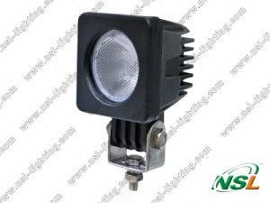 lampe de lumière de travail du CREE LED de 10W 10-30V 900lm 6000k, lumière tous terrains de tracteur, projecteurs imperméables à l'eau pour la voiture