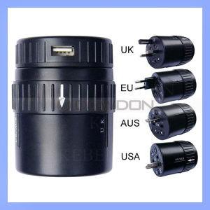 Weltuniversalarbeitsweg-Adapter mit USB-Aufladeeinheits-multi Stecker-Adapter (SDP-231)