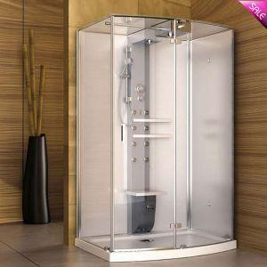 Eenvoudig installeer en de Duurzame Aangemaakte Zaal van de Douche van de Stoom van de Badkamers van het Glas (SR9N001)