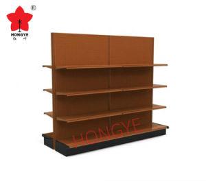 Double crémaillère d'étalage latérale de présentoir d'épicerie d'aménagement en métal