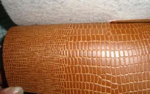 PVC gravado Leather para Shoes Materials